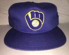 Vtg Milwaukee Brewers Snapback hat cap rare 90s Buffalo Cap MLB Baseball molitor