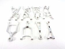 NEW ROVAN COMPLETE SILVER ALUMINUM A-ARMS ARMS SET  HPI BAJA 5B KING MOTOR