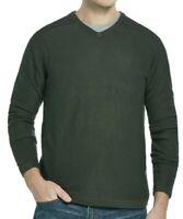 Weatherproof Mens Sweater Deep Green Size Large L V-Neck Pullover $60 010