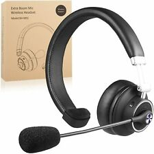 New listing Noise Cancelling Bluetooth Headset Wireless Over the Head Boom w/Mic For Trucker