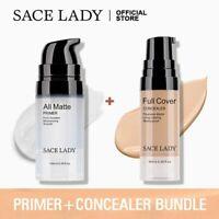 LADY Face Makeup Base Set Matte Foundation Primer Full Cover Concealer Cream Kit