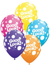 "25 x 11"" Good Luck Assorted Polka Dot Latex Balloons Ideal Party Decoration"