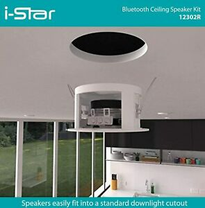 Ceiling Bluetooth Speakers Complete Kit - Easy To Install Ceiling Speakers Fit i