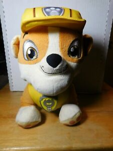 "LRN~Talking Dog~Nickelodeon Paw Patrol 10"" Rubble Stuffed Toy Spin Master"