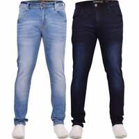Duck and Cover Original Mens Slim Fit Hardwearing Denim Jeans Zip Fly