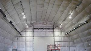 Low-E Space Frame Temporary Structure Insulation Fabric Energy Efficient