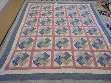 Nice Multi-Color Pieced Granny Sq & Bars w/Sashing & Frame Quilt