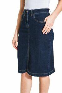 Calf-length Denim Skirt Denim Midi Skirt UK (Samantha)