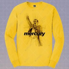 Mercury Rhapsody Freddie Long Sleeve T Shirt Mercury Queen Tee Will Rock You Top