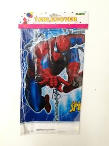 Spider Man Kids Table Cover Cloth Tableware Party Supplies plastic 108CM X180CM
