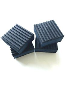 """4 PACK ANTI VIBRATION PADS ISOLATION DAMPENER SUPER HEAVY DUTY 2"""" x 2"""" x 7/8"""""""