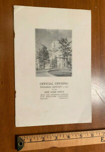 1931 Official Opening Booklet Aetna Life Insurance New Home Office Hartford CONN