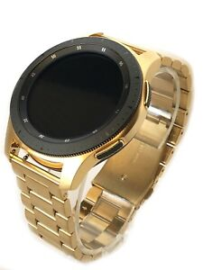 24K Gold Plated 46MM Samsung Galaxy Watch with Gold Link Band - 2018 Model!