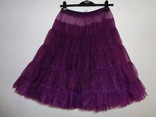 """Aubergine / Purple Rock & Roll 1950s Style Dance Petticoat 28""""L"""