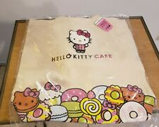 NWT Hello Kitty Cafe Exclusive Canvas Patch Tote Bag Rare