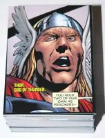 . Avengers Kree-Skrull War Story #1 Complete 90 card base set by Upper Deck 2011