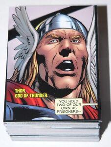 Avengers Kree-Skrull War Story #1 Complete 90 card base set by Upper Deck 2011