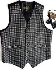 SALE Bnwt New Smart Mens Size 38 Black Waistcoat &  Bow Tie  Party