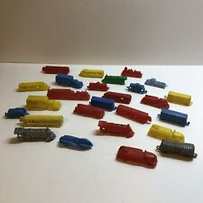 Lot of Vintage 1950's-1960's Small Plastic Mini Cars Trucks Train