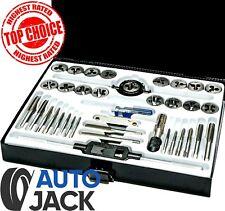 Autojack Tap and Die Set 40Pc Metric Kit with Split Dies Wrench & Metal Case