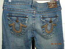 True Religion Denim Jeans USA RN 112790 Cameron Women 27 W 30 1/2 L Straight leg