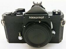 NIKON Nikkormat FT 35m film camera BLACK body in EXCELLENT condition