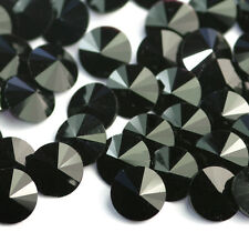 10x Genuine Swarovski Crystal JET Rivoli 1122 Round Black Stones SS34 7mm