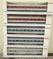 Märklin 4248 2 x, 2 x 4281, 4283 5 Stück IC-IR-Wagen DB Epoche 4 mit Licht , OVP