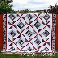 Pattern,Quilt,Cross Breeze, multi sizes, by Cozy Quilt Designs, 2 1/2'' Strips,