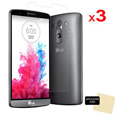 3 x ULTRA CLEAR LCD Screen Protector Cover Guard Shield for LG G3 (D850/D855)