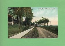 LODGE DRIVE In WINONA LAKE, IN On Vintage 1910 Postcard
