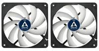 2 x Pack of Arctic Cooling F12 120mm 12cm PC Case Fan, 1350 RPM, 53CFM, 3 Pin