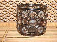 Bath and Body Works CRYSTAL GEMS Pattern 3 Wick Candle Holder Sleeve 14.5 Oz Big