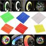 12pc/24pc Cycling Bike Wheel Spoke Reflector Clips Reflective Warning Strip Tube