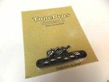 TONEPROS TP6R-B TUNEOMATIC BRIDGE WITH ROLLER SADDLES IN BLACK GIBSON BIGSBY