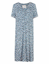 Famous Make Blue Floral Button Through Maternity Nightshirt Sizes 12 14 22