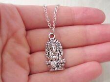 Ganesha Necklace - Ganesh Pendant - Antique Silver Hindu Jewelry - God of Wisdom