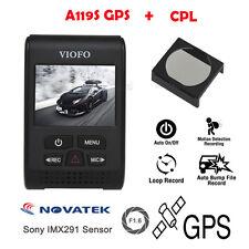 VIOFO A119S with GPS Capacitor Car Dash Camera+CPL Filter Lens HD 1080p Original