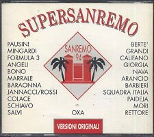 Supersanremo '94 - PAUSINI MINGARDI FORMULA 3 BONO SALVI BERTE' CALIFANO CD 1994