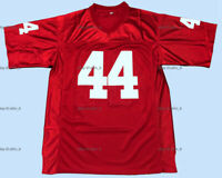 Retro Forrest Gump #44 Tom Hanks Movie Men's Football Jersey Stitched Red