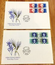 Norway Post FDC 1989.11.24. Famous Authors (high value comms) - Block of Four