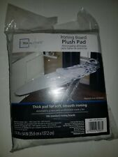 "Mainstays Ironing Board Plush Pad, New, White 14"" x 54"" Fits standard board"