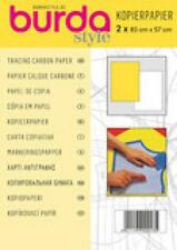 BURDA TRACING CARBON PAPER CONTENTS 2 LARGE SHEETS WHITE & YELLOW EACH 83 X 57CM