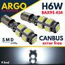 H6W BMW 3 SERIES SIDELIGHT LED BULBS SET KIT 2PCS F30 F31 F34 XENON CANBUS BAX9S