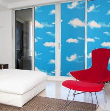 Blue sky and white clouds window  film window  sun roof matte sticker privacy