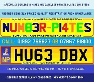HU63 DBX, HUGE, ASTON, Cherished Number, Private Plate, AMV, AML