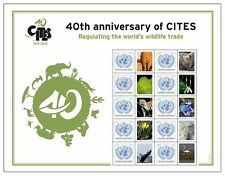 2013 ~ UNITED NATIONS PERSONALIZED SHEET ~ 40th Anniversary of CITES