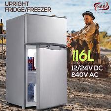 116l Portable Bar Fridge Freezer Cooler 12v/24v/240v Camping Caravan Home Boat