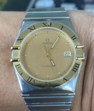 Omega Constellation Gold & Silver Tone Men Pre Owned Vintage Watch
