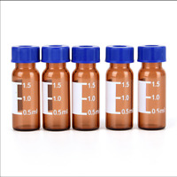 2ml Injection Glass Vial Brown Bottles Graduated Round Reagent Bottle With Caps